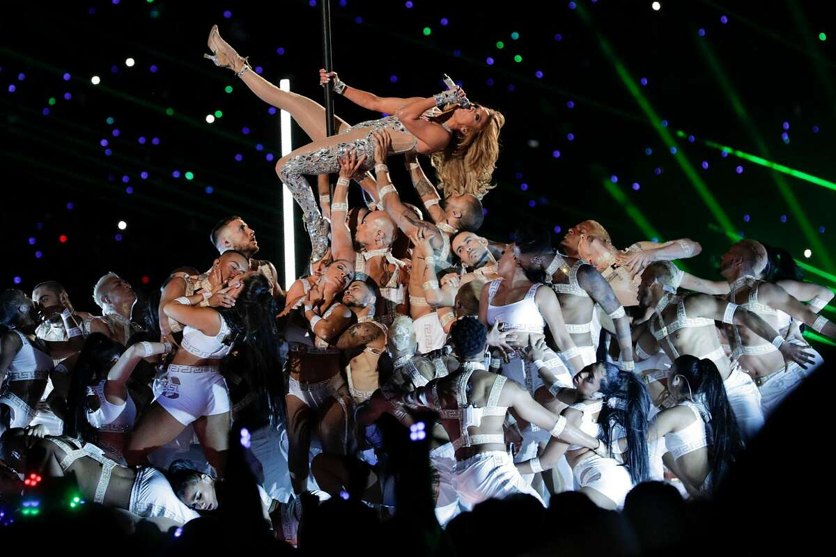 Jennifer Lopez performs during the halftime show for Super Bowl LIV between the San Francisco 49ers and the Kansas City Chiefs at Hard Rock Stadium on Sunday, Feb. 2, 2020 in Miami Gardens, Fla.