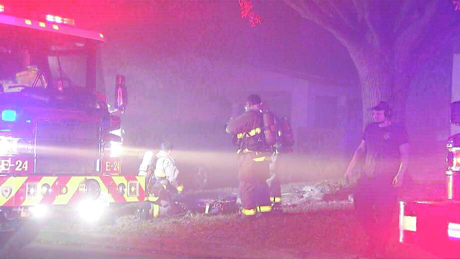 A North Side family is safe after a fire ignited in their home Sunday night. Photo: Ken Branca