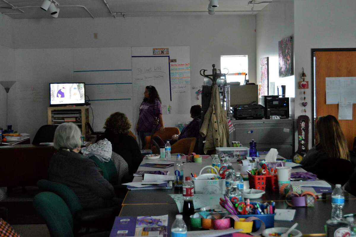 The Children's Grief Center held its facilitator training this past weekend, training volunteers to work with grieving children by doing activities, watching educational videos and talking about their own journeys with grief. (Ashley Schafer/Ashley.Schafer@hearstnp.com)