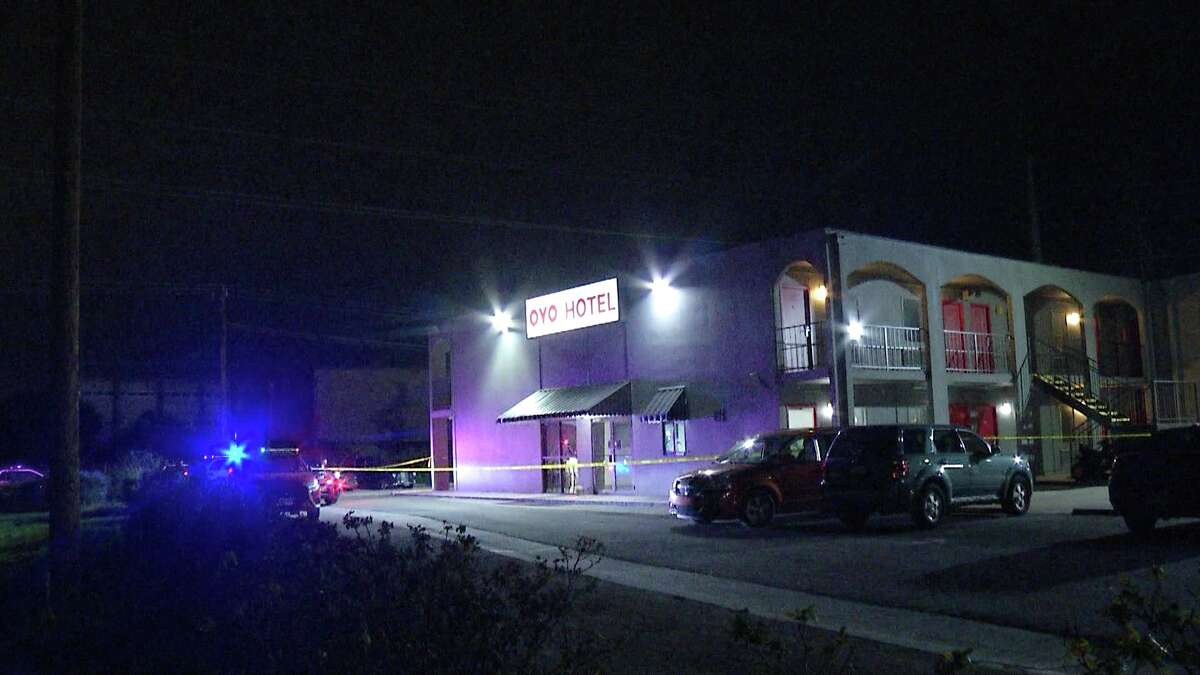 San Antonio police are investigating a shooting at a West Side motel Monday morning.