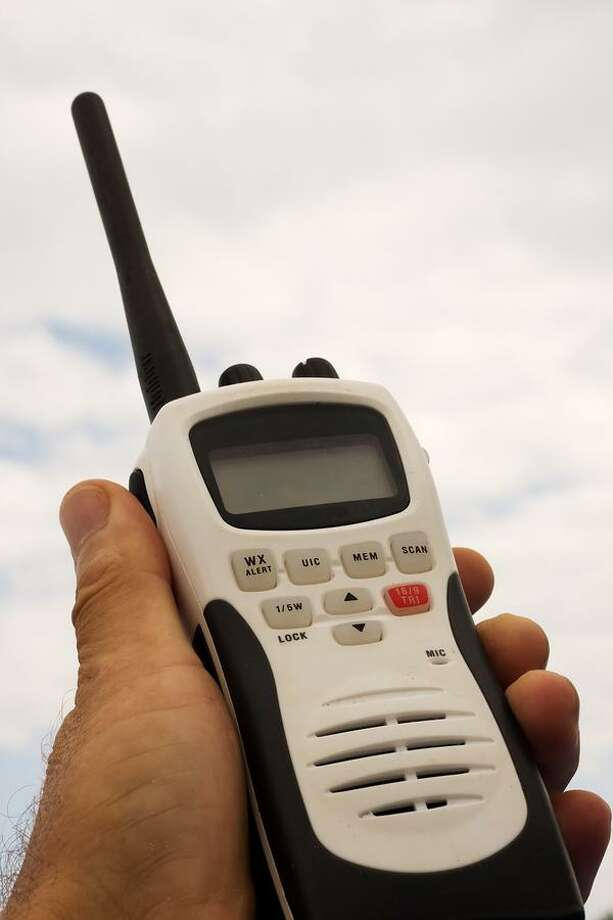 The use of hand-held radios while boating will be covered in the Safe Boating Course. Photo: Contributed