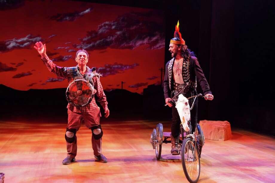 "Emilio Delgado and Hugo E. Carbajalin in ""Quixote Nuevo,"" Alley Theatre, 2020. The show continues through Sunday. Photo: T. Charles Erickson"