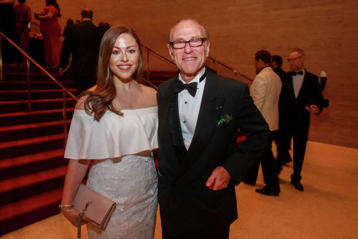 Lexi Sakowitz Marek and Robert Sakowitz at the Houston Symphony's Wine Dinner & Collector's Auction at Jones Hall in Houston on January 31, 2020.
