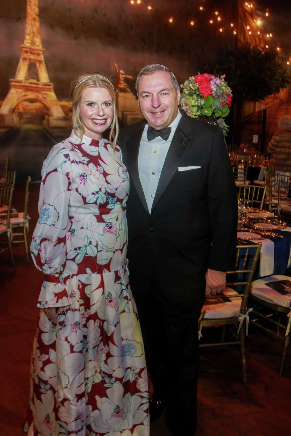 Co-chairs Valerie and Tracy Dieterich at the Houston Symphony's Wine Dinner & Collector's Auction in at Jones Hall in Houston on January 31, 2020.