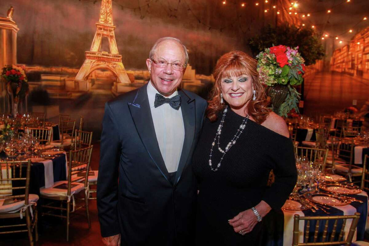 Co-chairs Pat Studdert and Carolyn Faulk at the Houston Symphony's Wine Dinner & Collector's Auction in at Jones Hall in Houston on January 31, 2020.