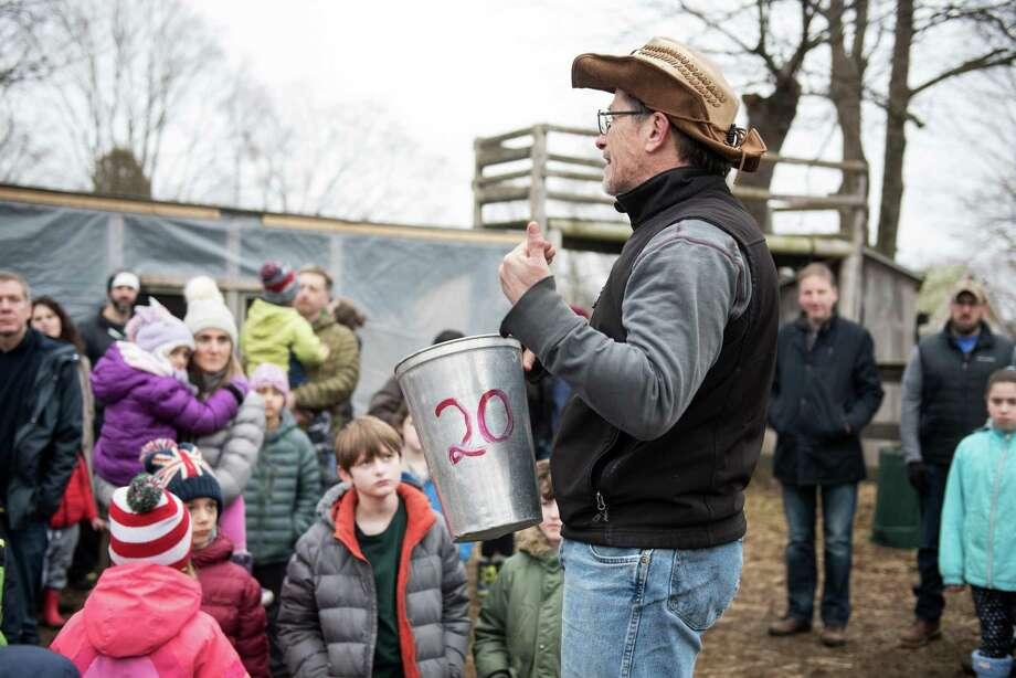 Ambler Farm program director Kevin Meehan will describes the process of maple sugaring on Feb. 29 at the farm on Hurlbutt Street. Photo: Bryan Haeffele / Hearst Connecticut Media / Hearst Connecticut Media