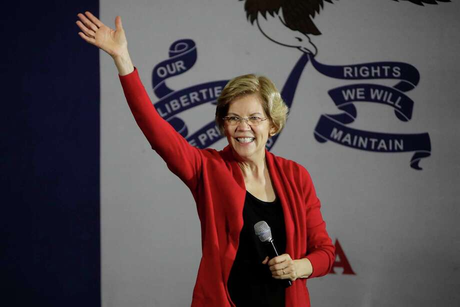 Democratic presidential candidate Sen. Elizabeth Warren, D-Mass., speaks at a Get Out the Caucus Rally at Simpson College in Indianola, Iowa, Feb. 2. Photo: Gene J. Puskar / Associated Press / Copyright 2020 The Associated Press. All rights reserved.