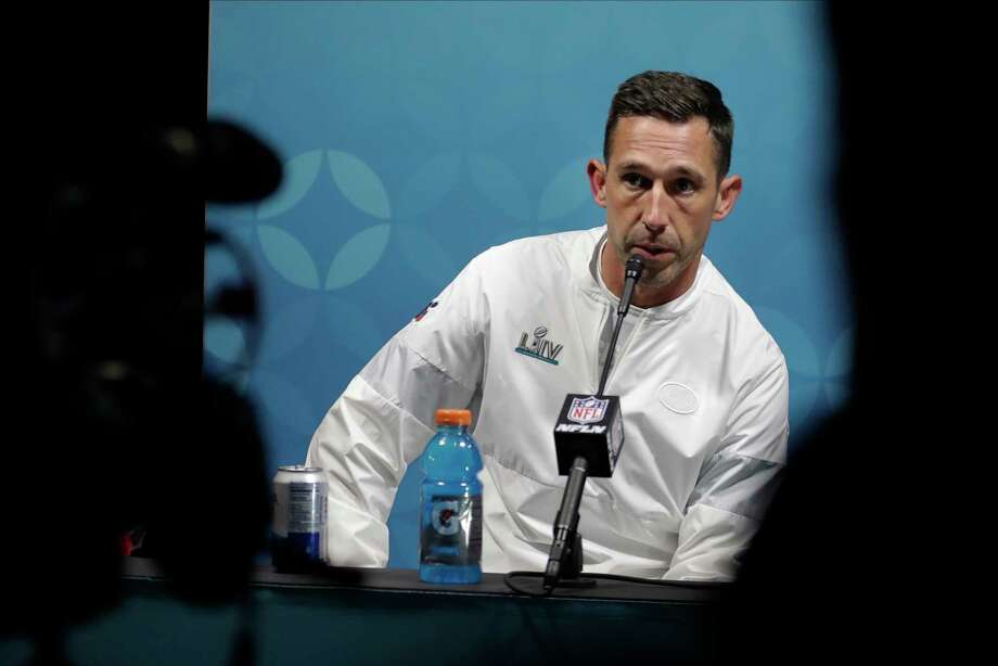 San Francisco 49ers head coach Kyle Shanahan speaks during a news conference after the NFL Super Bowl 54 football game against the Kansas City Chiefs Sunday, Feb. 2, 2020, in Miami Gardens, Fla. Photo: John Bazemore, AP / Copyright 2020 The Associated Press. All rights reserved.