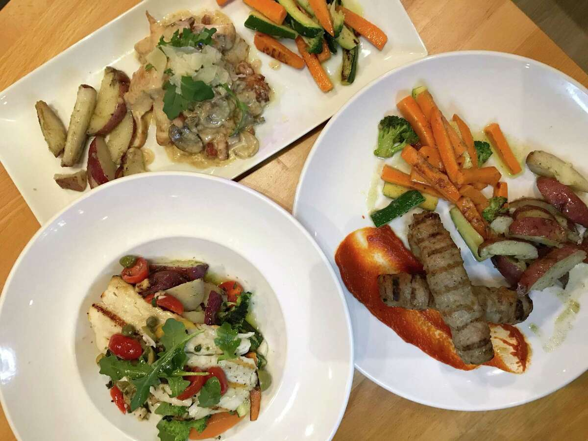 A selection of menu items from Europa Restaurant & Bar