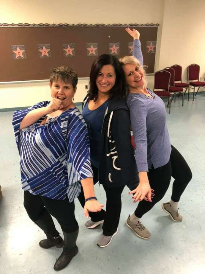 Center Stage Theatre's production of Mamma Mia! will feature leading ladies, left to right, Denis Smoker, Carla Sullivan and Michelle Lambert. Photo: Contributed Photo / / Connecticut Post