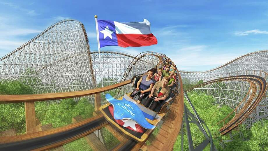 "A rendering of the new rollercoaster, ""Texas Stingray,"" at SeaWorld San Antonio. Photo: SeaWorld"