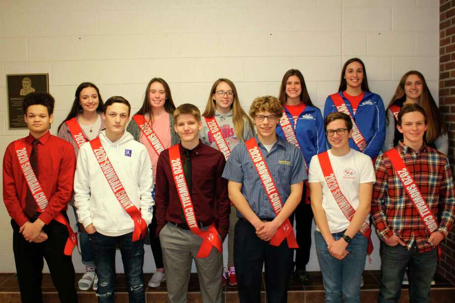 The Chippewa Hills 2020 Snowball Court representatives have been announced and are pictured, in back, from left: freshman Emma Sacco, sophomore Hanna Herman, junior Allyssia McCall, senior Isabel Bitler, senior Taylor Neeb and senior Emma Smith. In front, from left, are freshman Tyler Jones, sophomore Collin Brown, junior Levi Rogers, senior Josef Beers, senior Jacob Harwood and Senior Kaleb Lee. (Courtesy photo)