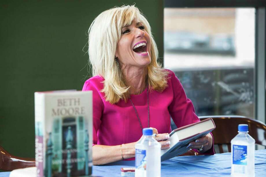 """New York Times bestselling author Beth Moore will sign copies of her newest book """"Chasing Vines"""" on Tuesday, Feb.4, at 3:30 p.m. at Books-A-Million, 5000 Katy Mills Circle, Ste. 221, in Katy. Visit http://www.facebook.com/events/ 478802026080686/ or call 281-644-2665 for information. Photo: Brett Coomer, Staff / Houston Chronicle / ? 2016 Houston Chronicle"""
