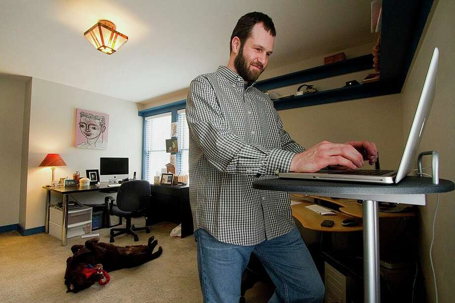 More people in Seattle are clocking work hours from home than ever before. Photo: Portland Press Herald/Getty Images