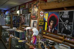 Inside Flip Side Record Parlor in San Antonio, Texas, Jan. 23, 2020. Flip Side Record Parlor has an uncertain future following the recent death of its owner Clarisa Pe–a.