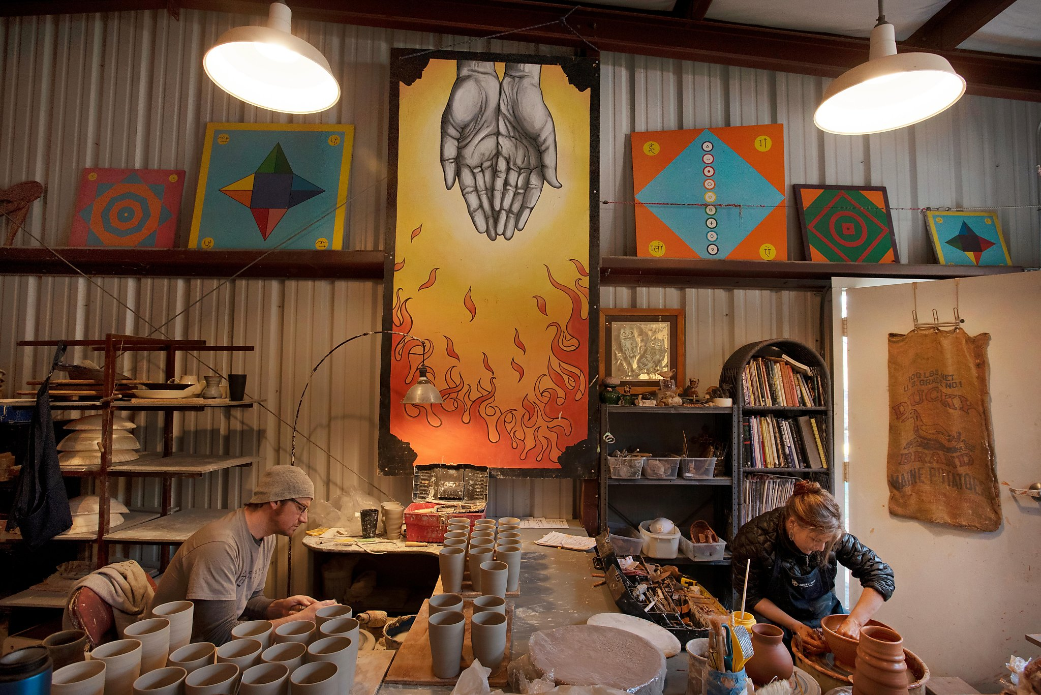 Where do Napa's top restaurants get their plates and platters? From this two-person pottery studio