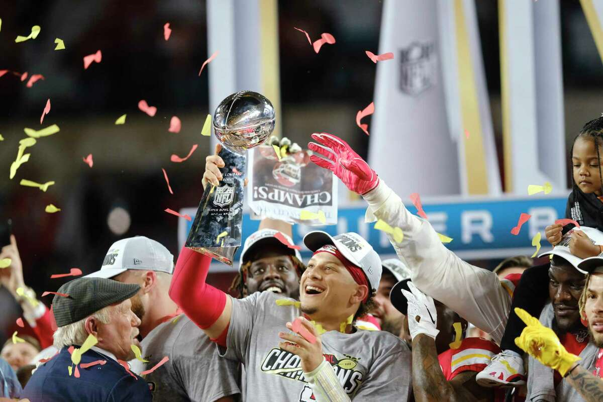 After leading the Chiefs to their first championship in 50 years, Patrick Mahomes eyes becoming the first back-to-back Super Bowl winner since Tom Brady's Patriots from 2003-04.