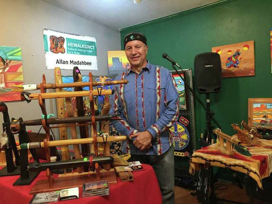 Ojibway artist and musician Allan Madahbee will explain the cultural significance and the haunting sound of the Native American courting flute at The Institute of American Indian Studies in Washington on Feb. 15. Photo: The Institute Of American Indian Studies / Contributed Photo