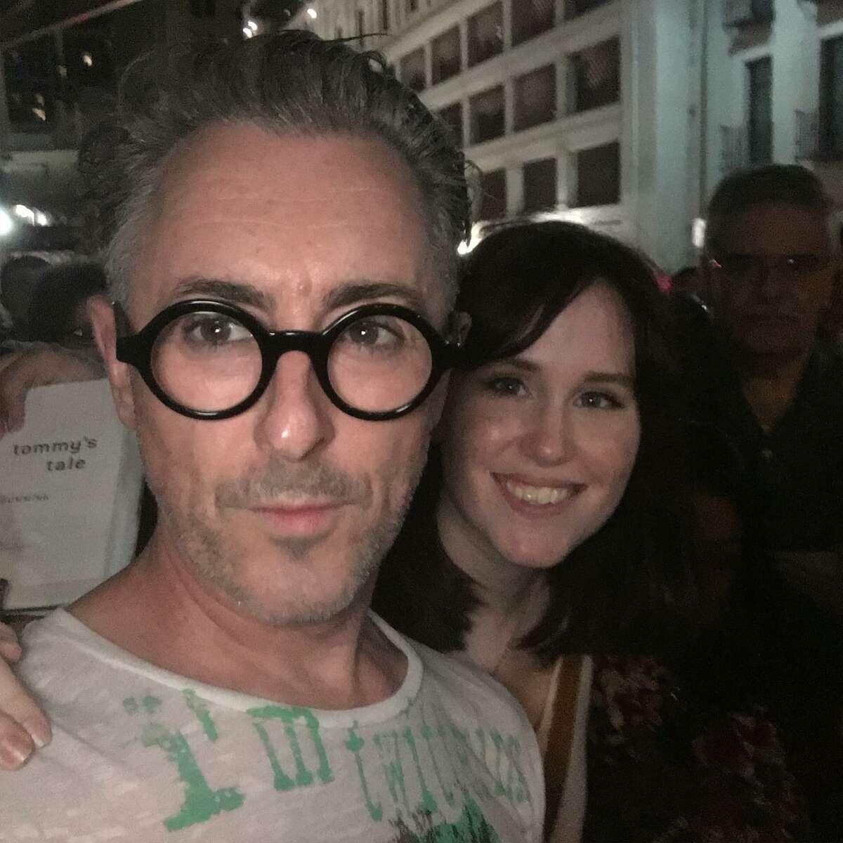 Jessica Roberts got a selfie with Alan Cumming when he performed at the Majestic Theatre.