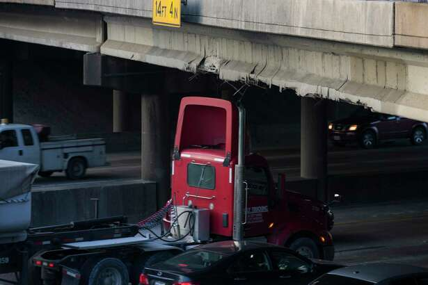 The Waco Street bridge was damaged after a rig struck the span while traveling westbound Interstate 10 on Dec. 17, 2019, in Houston.