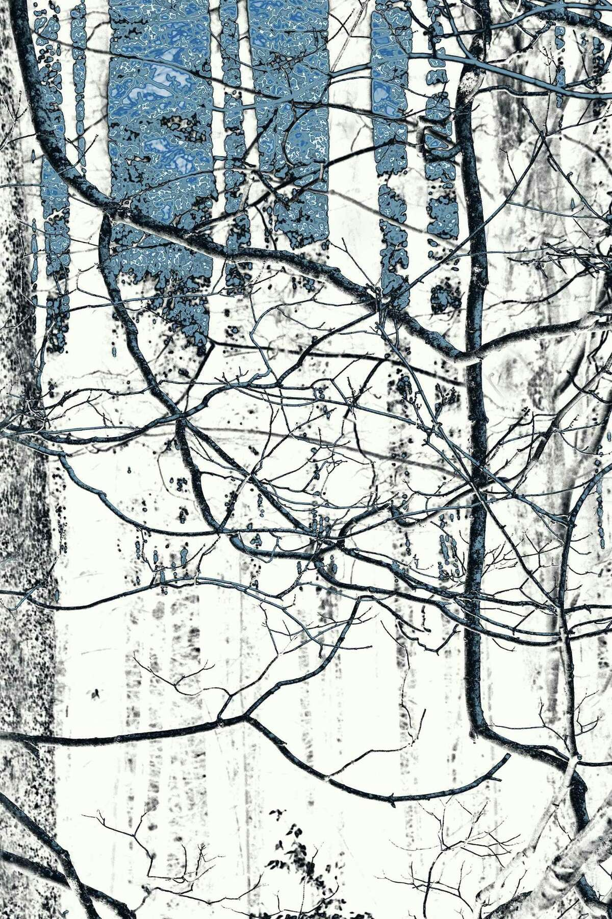 """Moving Towards Blue Sky by Nancy C. Woodward will be part of the """"The Art of Firing Circuits Studios"""" opening Feb. 6 at Wilton Library."""