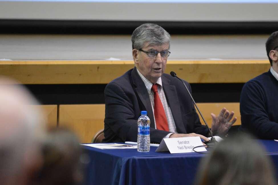 State Sen. Neil Breslin, D-Bethlehem, speaks about New York's Foundation Aid formula at Columbia High School on Jan. 30, 2020.