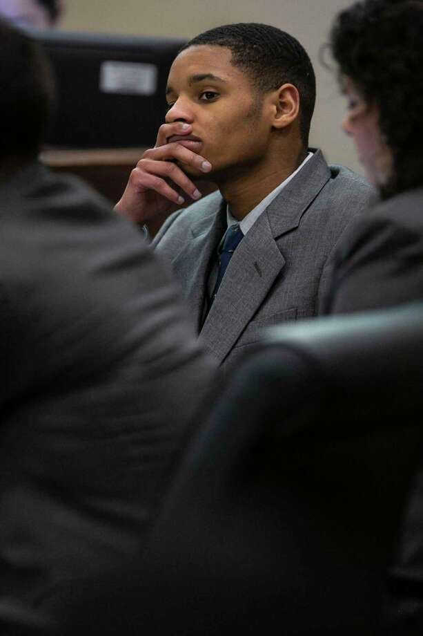 Anton Harris listens to testimony in the 399th State District Court in the Cadena-Reeves Justice Center, Judge Frank J. Castro presiding, during the punishment phase of Anton Harris' trial following a conviction of rape on Feb. 3, 2020. Photo: Josie Norris, The San Antonio Express-News / Staff Photographer / **MANDATORY CREDIT FOR PHOTOG AND SAN ANTONIO EXPRESS-NEWS/NO SALES/MAGS OUT/TV