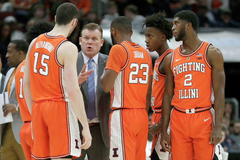 Illinois Brad Underwood's University of Illinois basketball team is ranked 20th in this week's AP Top 25 basketball poll. Photo: AP Photo