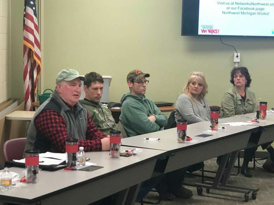 A group of employers and employees currently taking part in the apprenticeship program discuss how well it works. (Courtesy photo)