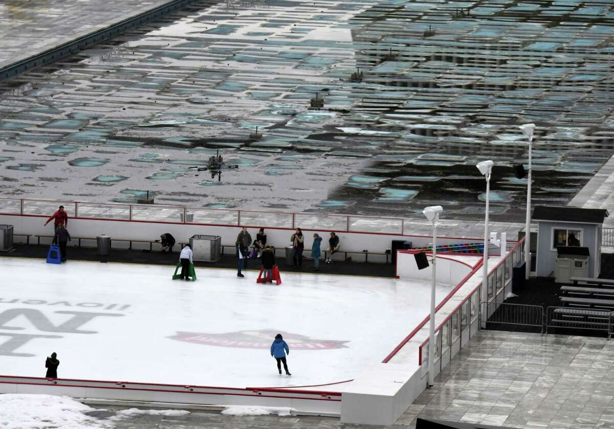 The last day of the Empire State Plaza ice rink is March 15, unless weather cuts off the season earlier.