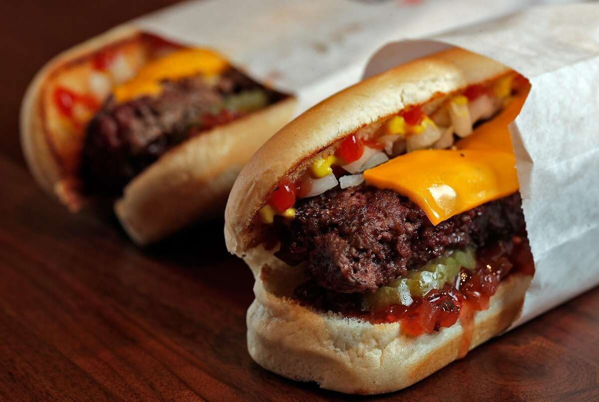 The Burger Dog by Hot Dog Bill's was one of the many food items served at Chase Center earlier this year. It will be among items that can be ordered via a mobile device in 2021.