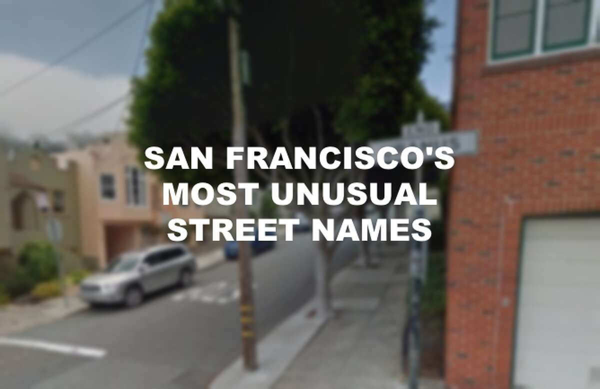 San Francisco's most unusual street names, from Lois Lane Avenue to Waldo Alley.