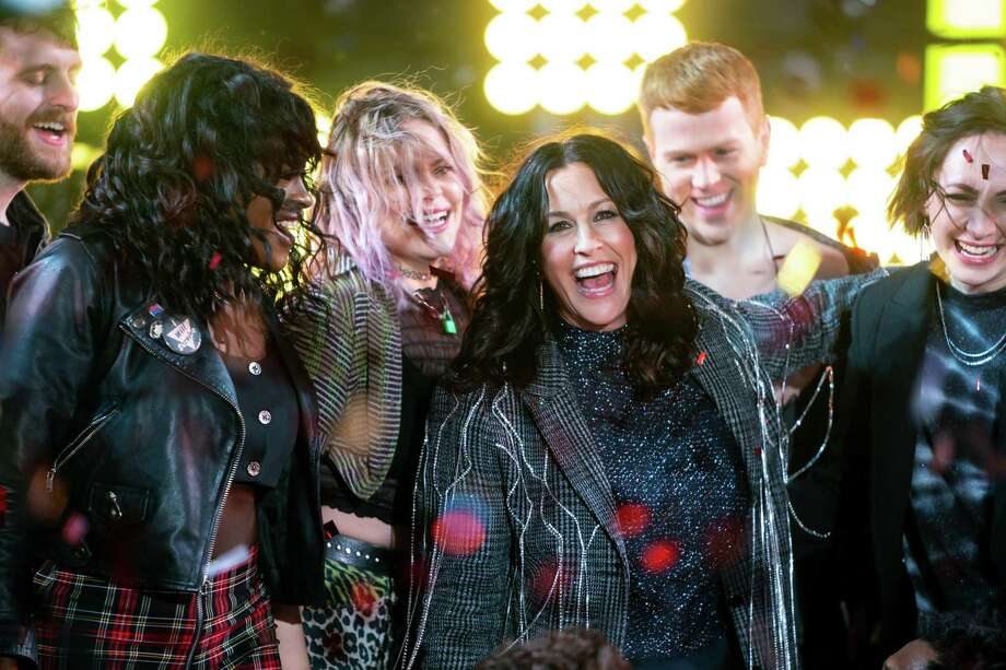 """Alanis Morissette and the """"Jagged Little Pill"""" cast performs during the Times Square New Year's Eve 2020 Celebration. Photo: Michael Stewart, Contributor / WireImage / Getty Images / 2019 Michael Stewart"""