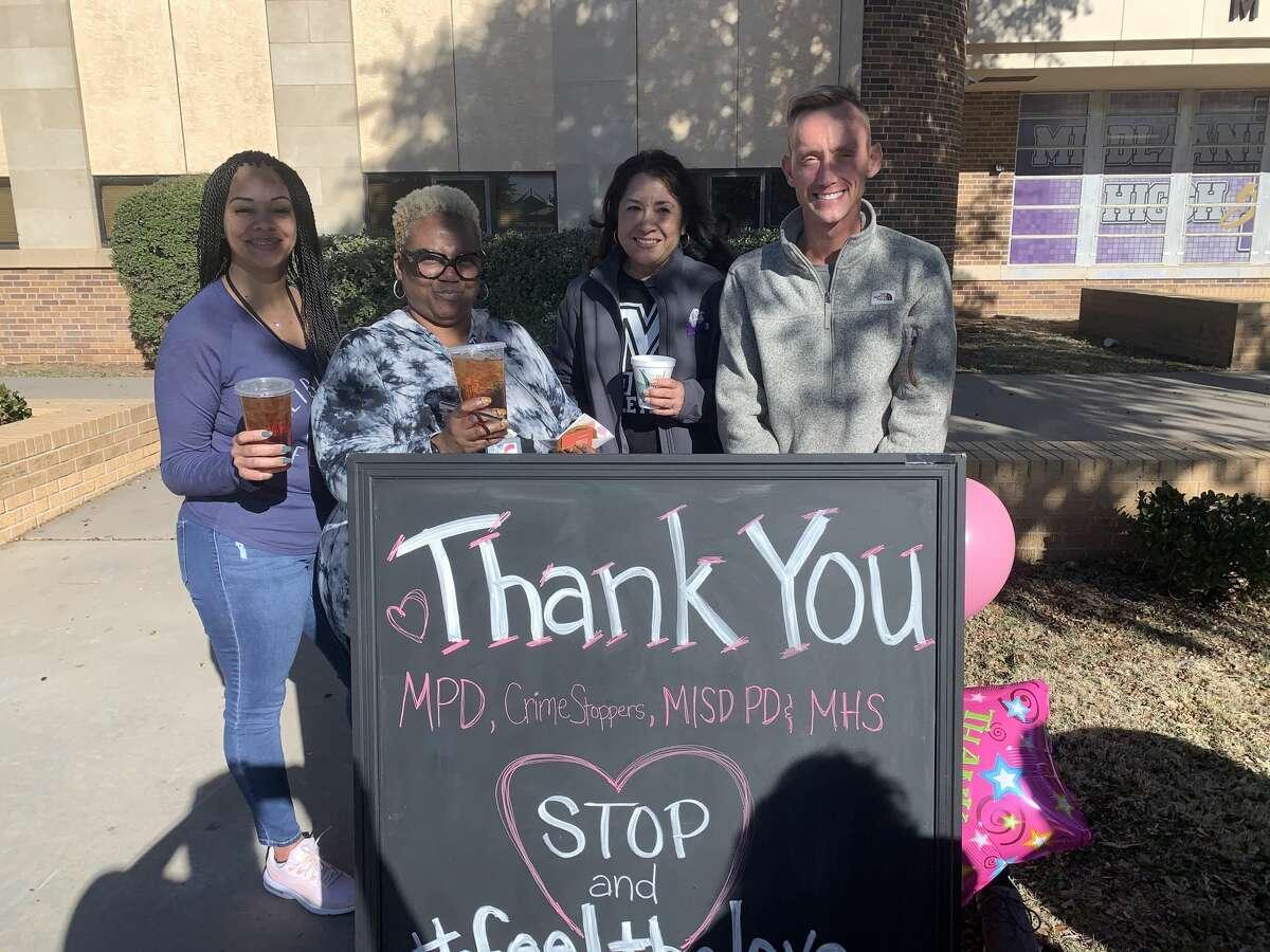 MHS: Jerrilyn Armendariez, from left, Edwyenna Walker, Becky Gonzalez and Bradley Boyce