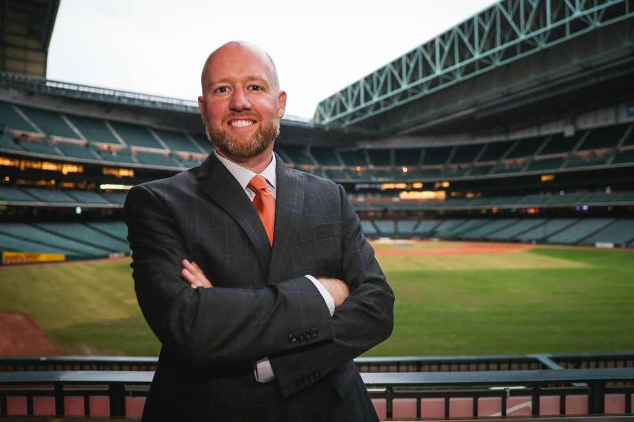 James Click will take over as Astros general manager less than two weeks before players report to spring training. Photo: Courtesy Houston Astros