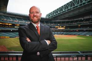 James Click will take over as Astros general manager less than two weeks before players report to spring training.