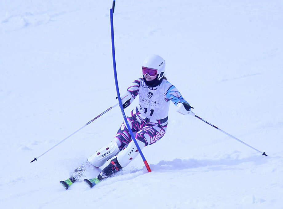 The Onekama ski team competed at the Benzie Invitational at Crystal Mountain on Monday. Photo: Robert Myers/Pioneer News Network