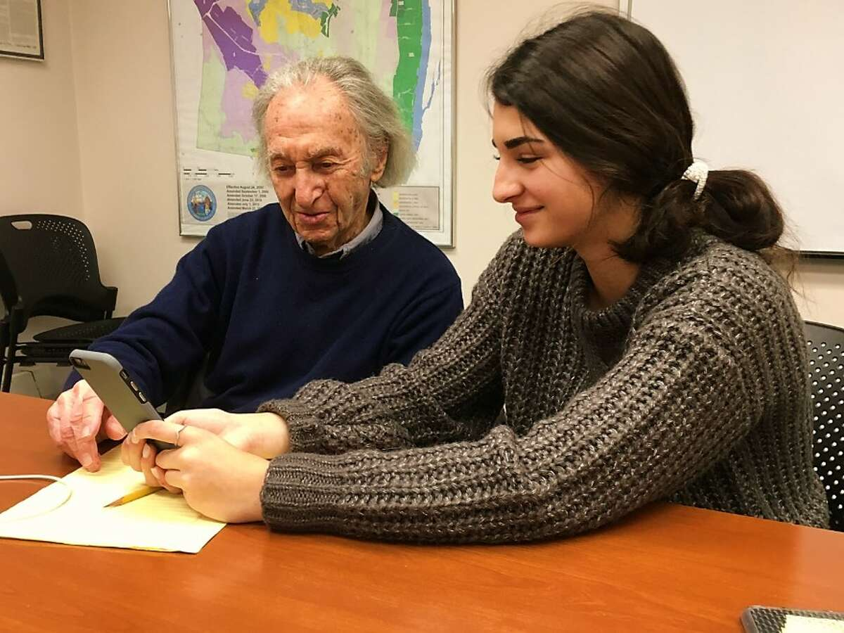 """Recently six tech-savvy Bethlehem High School teens helped older residents with their smartphones, tablets, and laptops at a Town Hall event. Organized by Bethlehem's Parks & Rec and Senior Services Departments, """"Seniors & Teens Talk Technology"""" brought together generations that are sometimes divided by devices. The first event was so successful that another is being planned for the spring with more volunteers since the first event had a waiting list."""