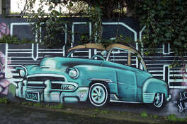 "The parking lot behind the El Capitan Hotel in the Mission serves as an outdoor gallery for street artists from around the world, curated by Alex ""Mace"" Douhovnikoff and the team at Mission Art 415."