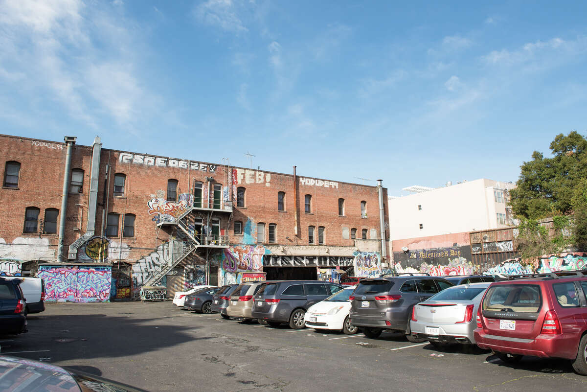 The parking lot behind the El Capitan Hotel in the Mission serves as an outdoor gallery for street artists from around the world, curated by Alex