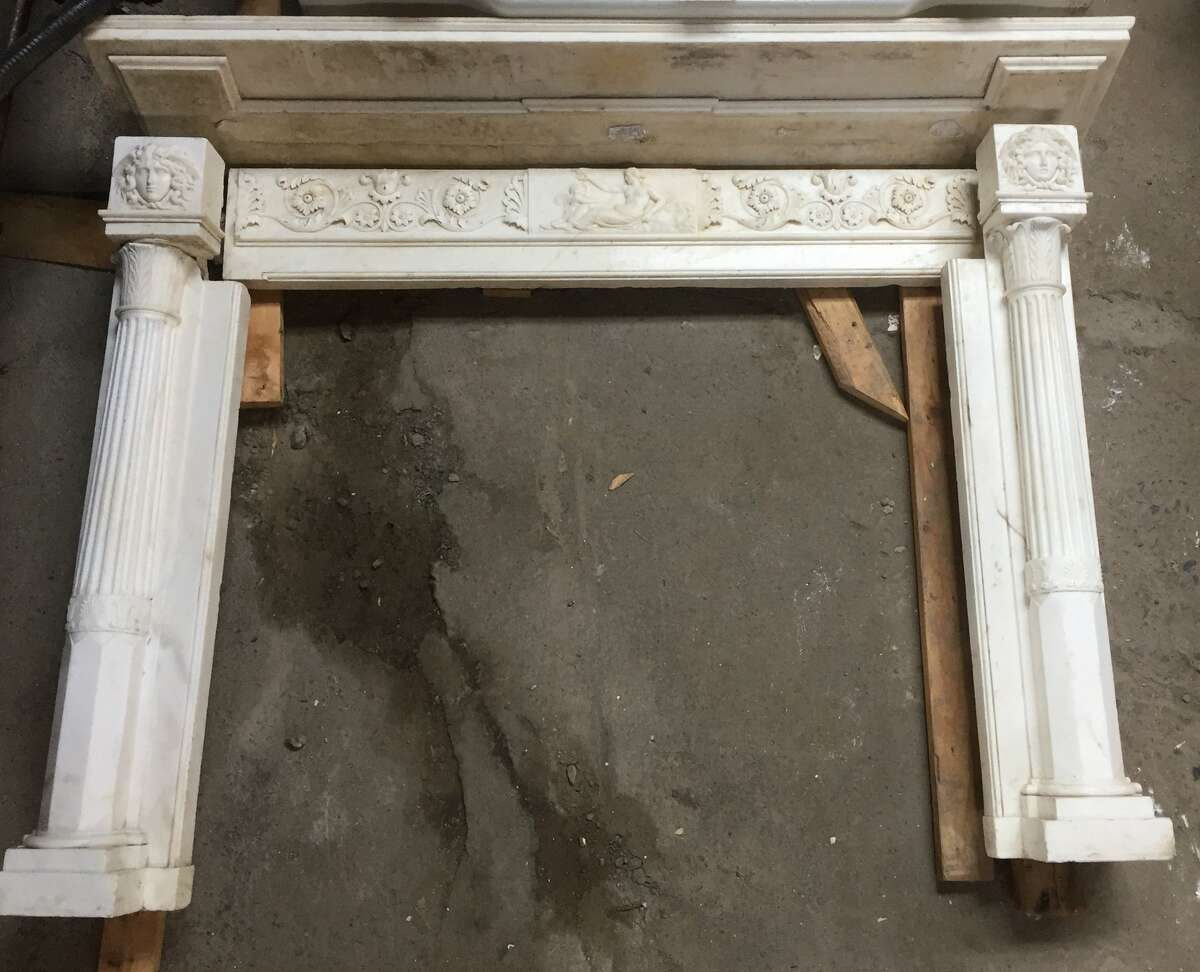 Photo of 200-year-old mantel provided by Historic Albany Foundation.
