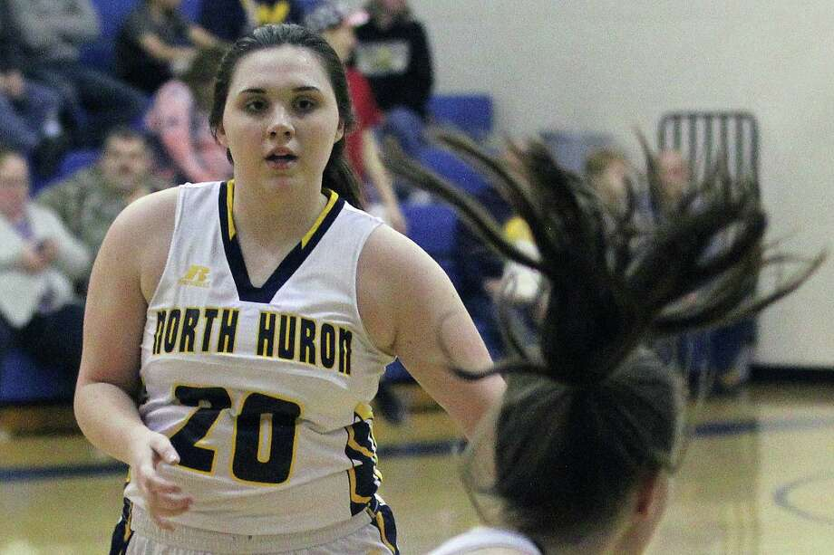 The North Huron girls basketball team climbed over the .500 threshold on the season with a 35-28 victory over Mayville on Monday night. Photo: Tribune File Photo