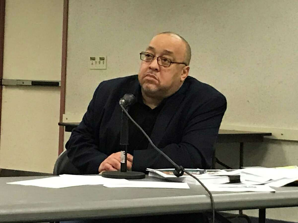 Board of Education member Darnell Goldson on Feb. 3, 2020.