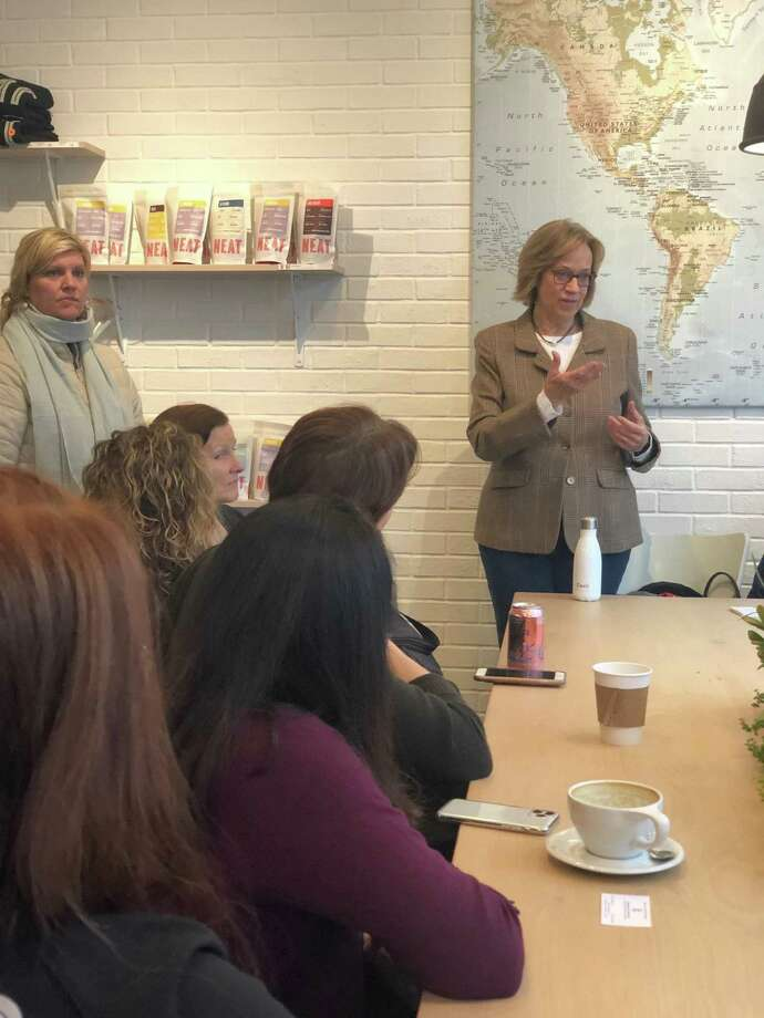 State Rep. Terrie Wood recently held two community coffees to discuss her goals for the next legislative session. Photo: Eric Enel /Espresso NEAT