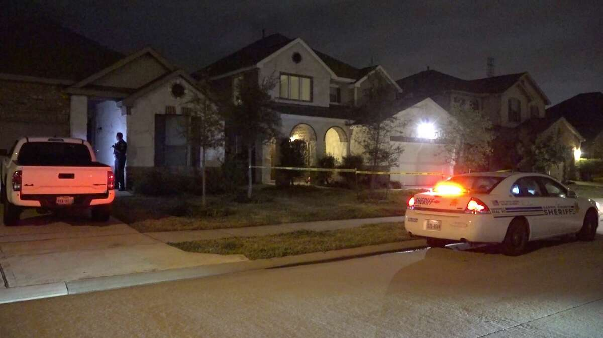 Harris County Sheriff's Office detectives investigate a shooting in the 22500 block of Auburn Valley Lane on Monday, Feb. 3, 2020.