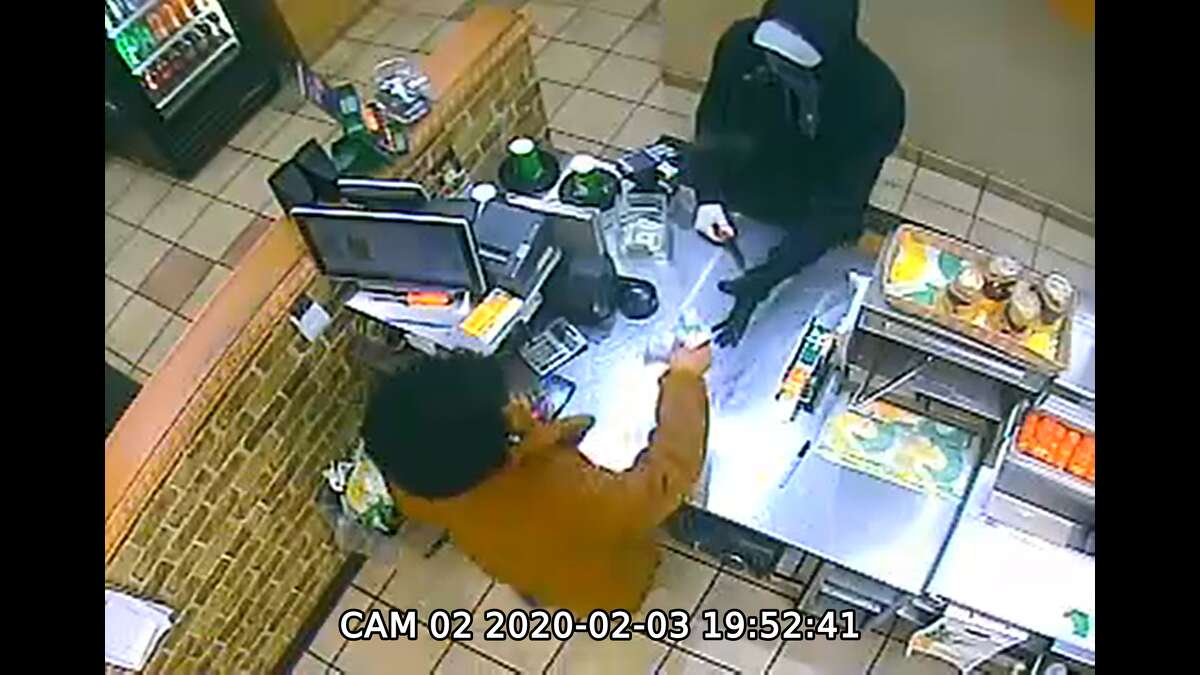 Surveillance photo of a man who robbed a Fuller Road Subway on Monday evening.