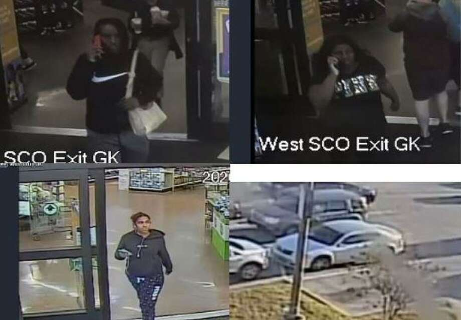 Camera surveillance images show three women walking out of the Kroger where authorities say they stole a purse off a woman's shopping cart. Photo: Courtesy Of The Montgomery County Precinct 3 Constable's Office