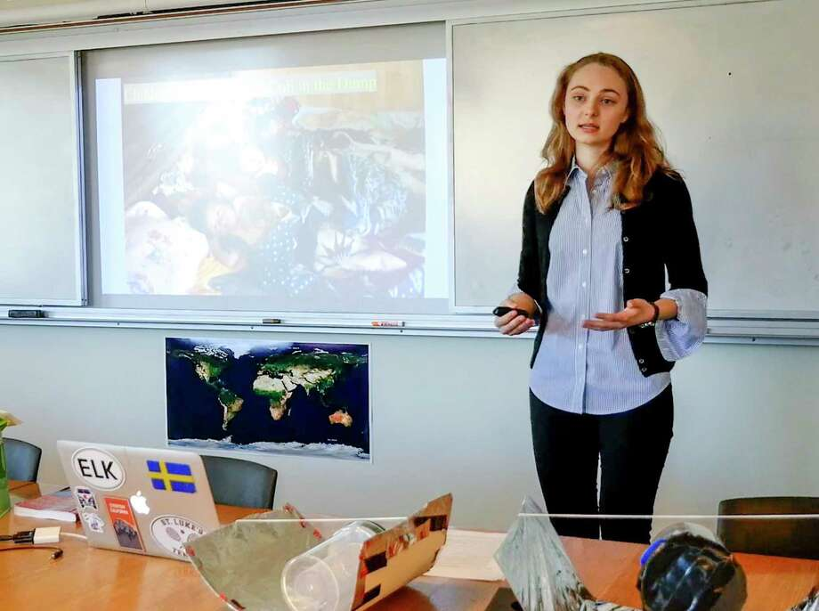 """St. Luke's School alumna from the New Canaan school's class of 2019, Carolina Warneryd, has been selected as the Cum Laude Society's national winner for her 2019 St. Luke's STEM Scholars paper, """"Engineering a Sanitation Solution for the Guatemala City Dump."""" Photo: Contributed Photo"""
