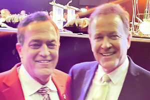 News 4 San Antonio anchor Randy Beamer shared this photo of himself and Dr. David Seguin from Dental Care of San Antonio who gets comments saying he looks like Beamer.