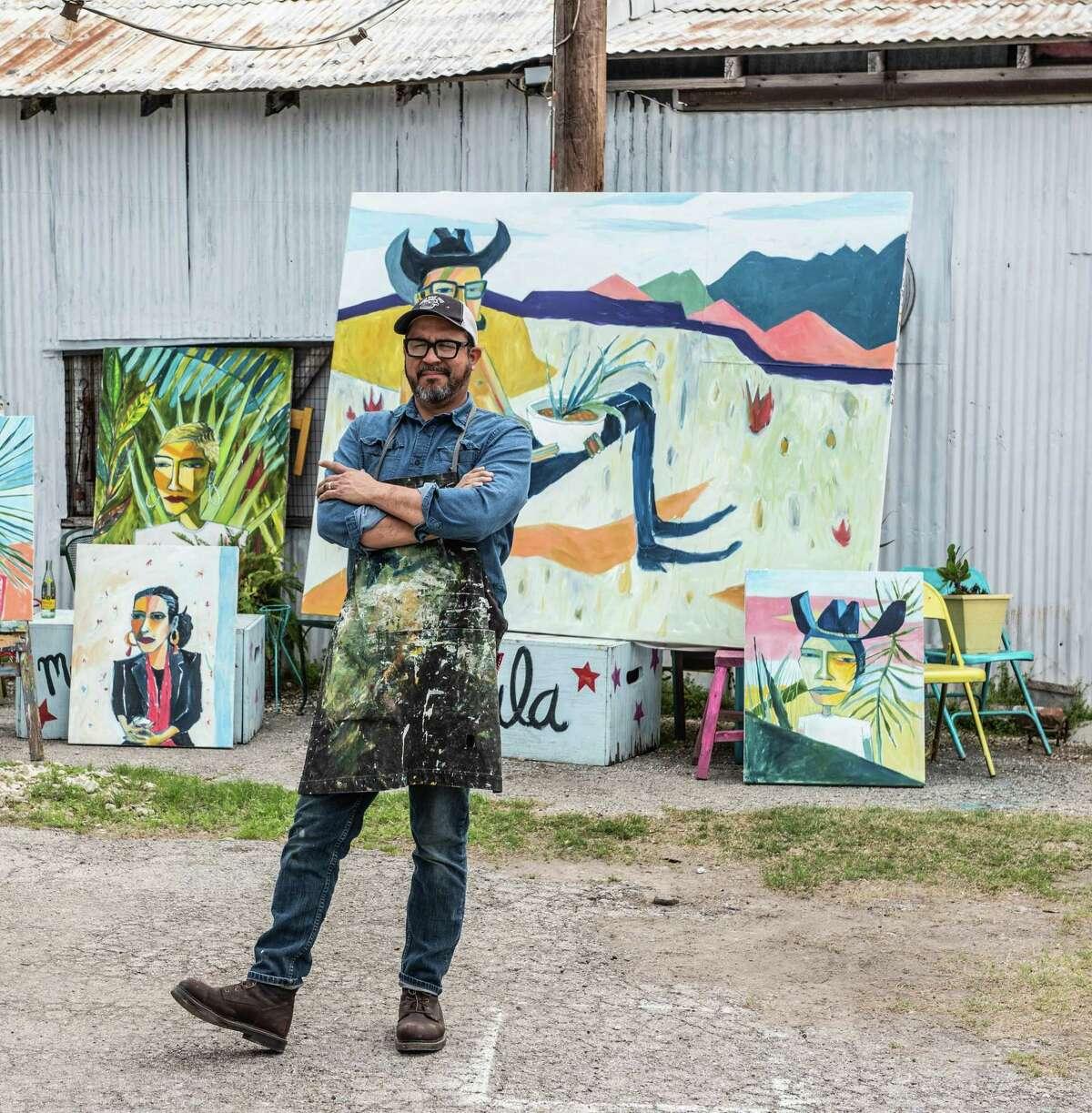 Artist Cruz Ortiz is moving to Houston.